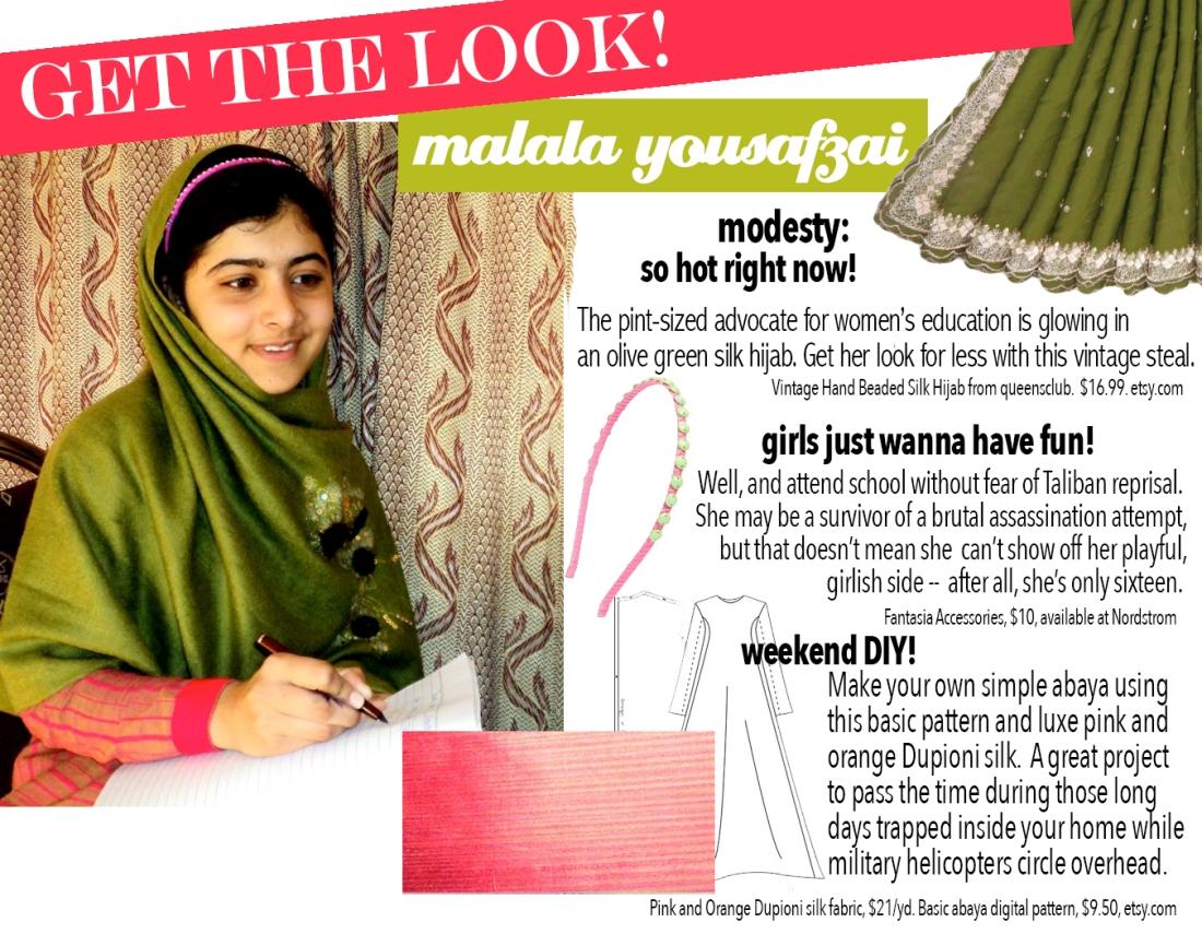 get the look: malala