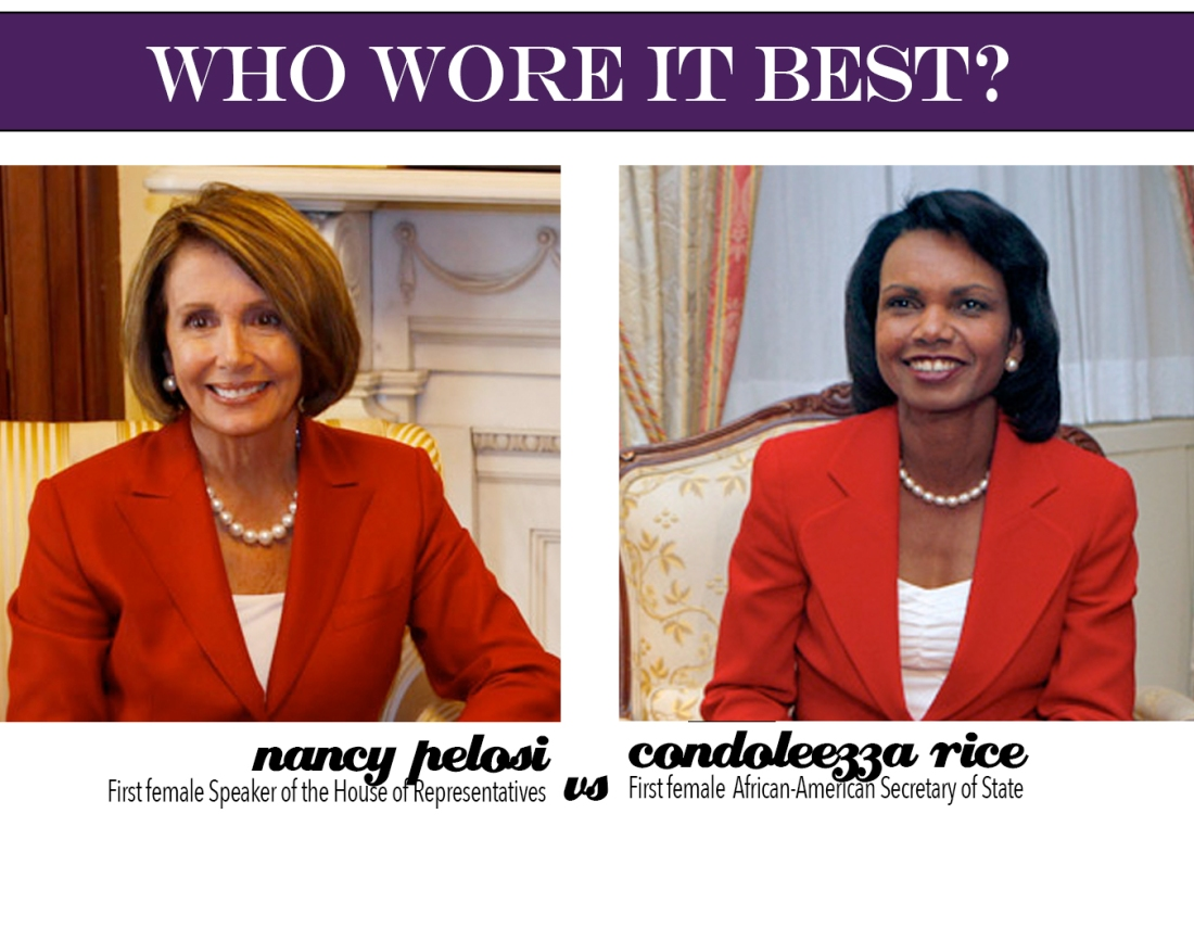 who wore it best? nancy vs condi