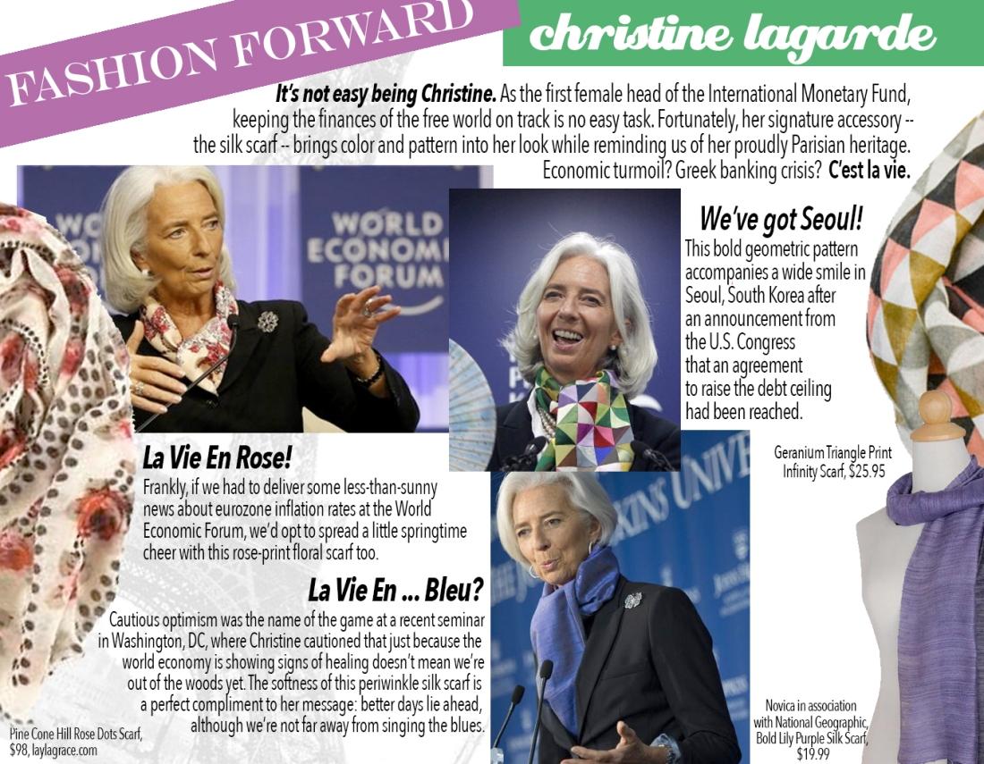fashion forward: christine lagarde